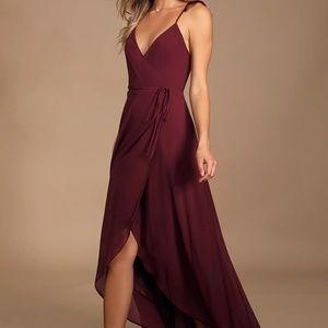 Lulu's High Low Wrap Dress
